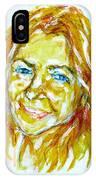 Tania Helft, Portrait IPhone Case