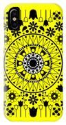 Tapiz Flores Black And White IPhone Case