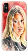 Tara Summers In Boston Legal IPhone Case