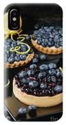 Tart With Blueberries IPhone Case