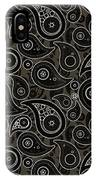 Taupe Brown Paisley Design IPhone Case