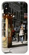 Taxi Booth IPhone Case
