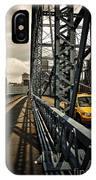 Taxi Crossing Smithfield Street Bridge Pittsburgh Pennsylvania IPhone Case