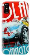 Tazio Nuvolari Auto Union D Donnington 1939 IPhone Case