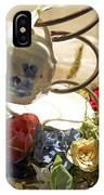 Tea Cup Bed Coil Floral IPhone Case