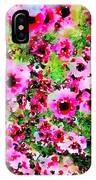 Tea Tree Garden Flowers IPhone Case