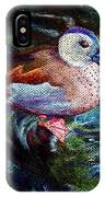 Teal Duck Of Naples IPhone Case