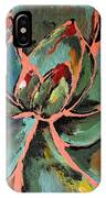 Teal Pink Succulent IPhone Case