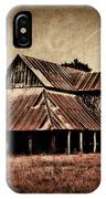 Teaselville Texas Barns IPhone Case