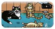 Cats Having Fun Playing With Spiders IPhone Case