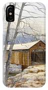 Teegarden Covered Bridge In Winter IPhone Case