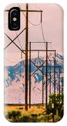 Telegraphpolestomountains Strawberry IPhone Case