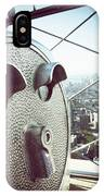 Telescope In Nyc IPhone Case
