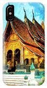 Temple In Laos IPhone Case