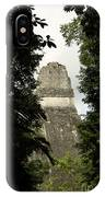 Temple In The Trees Tikal Guatemala IPhone Case