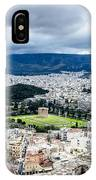 Temple Of Zeus - View From The Acropolis IPhone Case