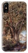 Temples And Burial Ground Near Poona IPhone Case