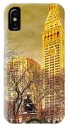 Ten Past Four At Madison Square Park IPhone Case