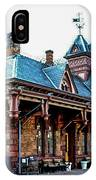 Tenafly Railroad Station IPhone Case