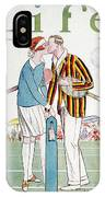 Tennis Court Romance, 1925 IPhone Case