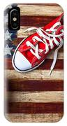 Tennis Shoes And Basketball On Flag IPhone Case