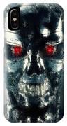 Terminator Oil Pastel Sketch IPhone Case