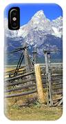 Teton Corral 2 IPhone Case