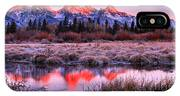 Teton Reflections In The Frosted Willows IPhone X Case