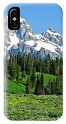 Tetons In Spring IPhone Case