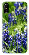 Texas Bluebonnets 002 IPhone Case
