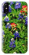 Texas Bluebonnets And Indian Paintbrush IPhone Case