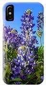 Texas Bluebonnets Backlit II IPhone Case