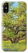 Texas Bluebonnets Under A Giant Oak Tree IPhone Case