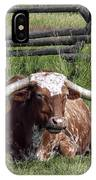 Texas Longhorn Bull At Rest IPhone Case