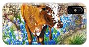Texas Longhorn In Bluebonnets IPhone X Case