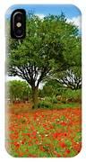 Texas Poppy Field 159 IPhone Case
