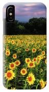Texas Sunflowers IPhone Case by Robert Bellomy