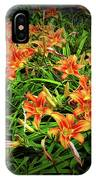 Texture Drama Field Of Tiger Lilies IPhone Case