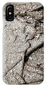 Texture With Root With Plenty Of Pebbles IPhone Case