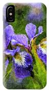 Textured Bearded Irises IPhone Case