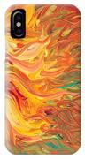Textured Fire Sunflower IPhone Case