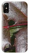 Textured Leaves IPhone Case