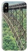 Textured New River Gorge Bridge IPhone Case