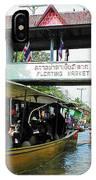Thailand Floating Market IPhone Case