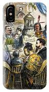 Thanksgiving Cartoon, 1869 IPhone Case