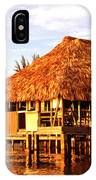 Thatched Roof Placencia IPhone Case