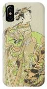 The Actor Segawa Kikunojo II As The Courtesan Maizuru In The Play Furisode Kisaragi Soga IPhone Case