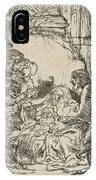 The Adoration Of The Shepherds: With The Lamp IPhone Case