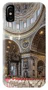 The Altar And Dome In St Peter's Basilica IPhone Case