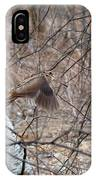 The American Woodcock In Take-off Flight IPhone Case